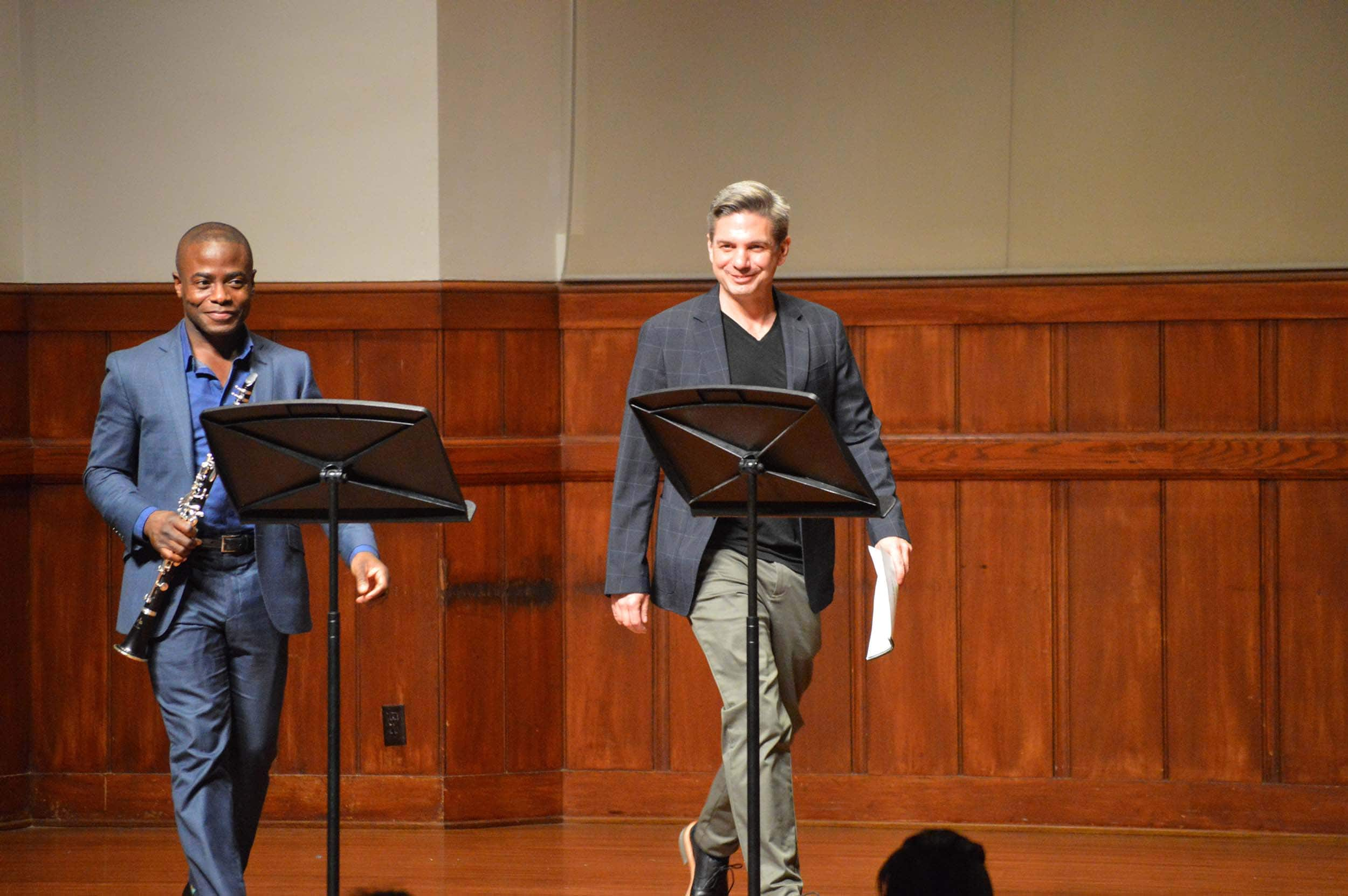 Anthony McGill and Todd Strange at Alfred Newman Recital Hall