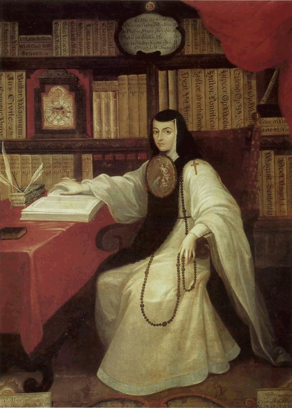Sor Juana Ines de la Cruz by Miguel Cabrera